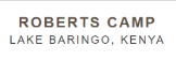 Business Directory & Companies List Roberts Camp in  Baringo County