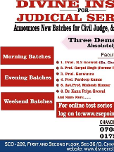 Divine Institute Best Judiciary Coaching in Chandigarh
