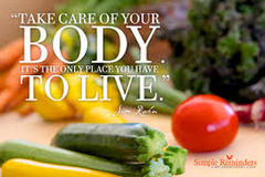 How can a man take care of his body?