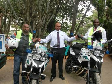 NTSA Enforcement Officer on Motor Cycle