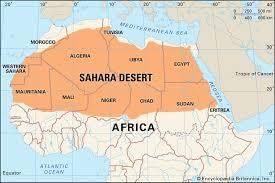 What country does the Sahara Desert cover?