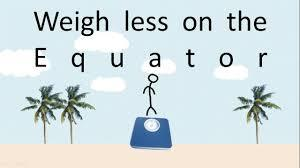 Do you weigh less at the equator?